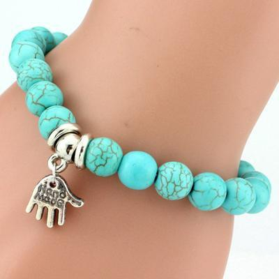 Vintage Bracelet with Life Tree, Elephant or Owl Charm - MiKlah