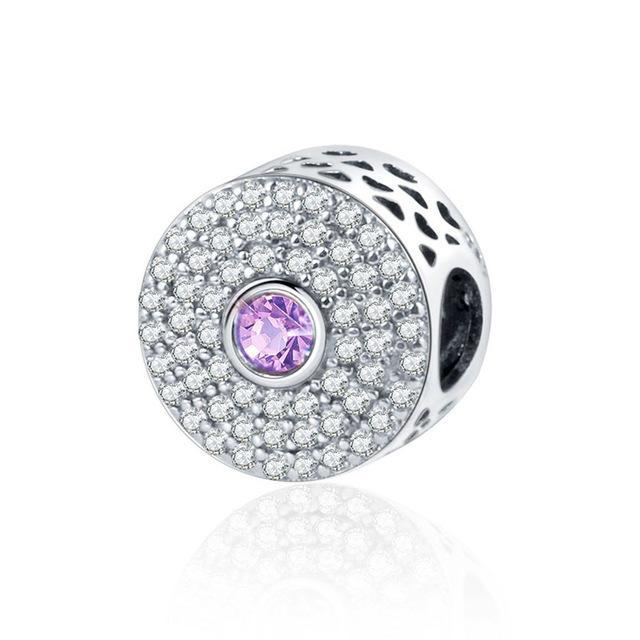 925 Silver Cubic Zirconia Charms - MiKlah