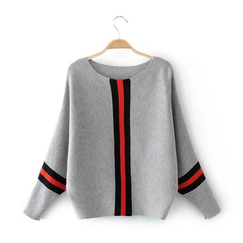 MIK Knitted Striped Pullovers Sweaters - MiKlah