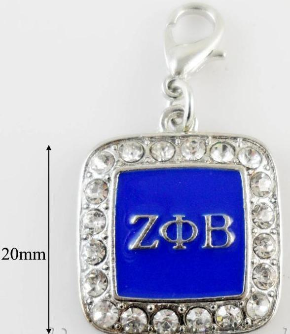 Greek Sorority Zeta Phi Beta ZPB  Charms - MiKlah