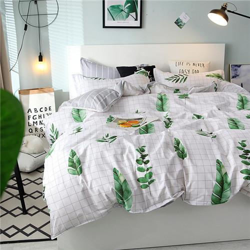 MIK Leaf Design 4pcs Duvet Cover Set - MiKlah