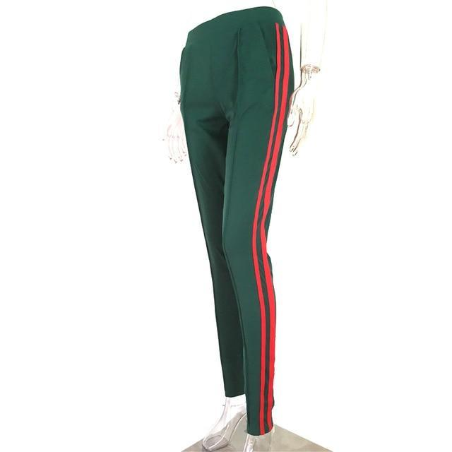 MIK Green Striped Sporting Pants - MiKlah