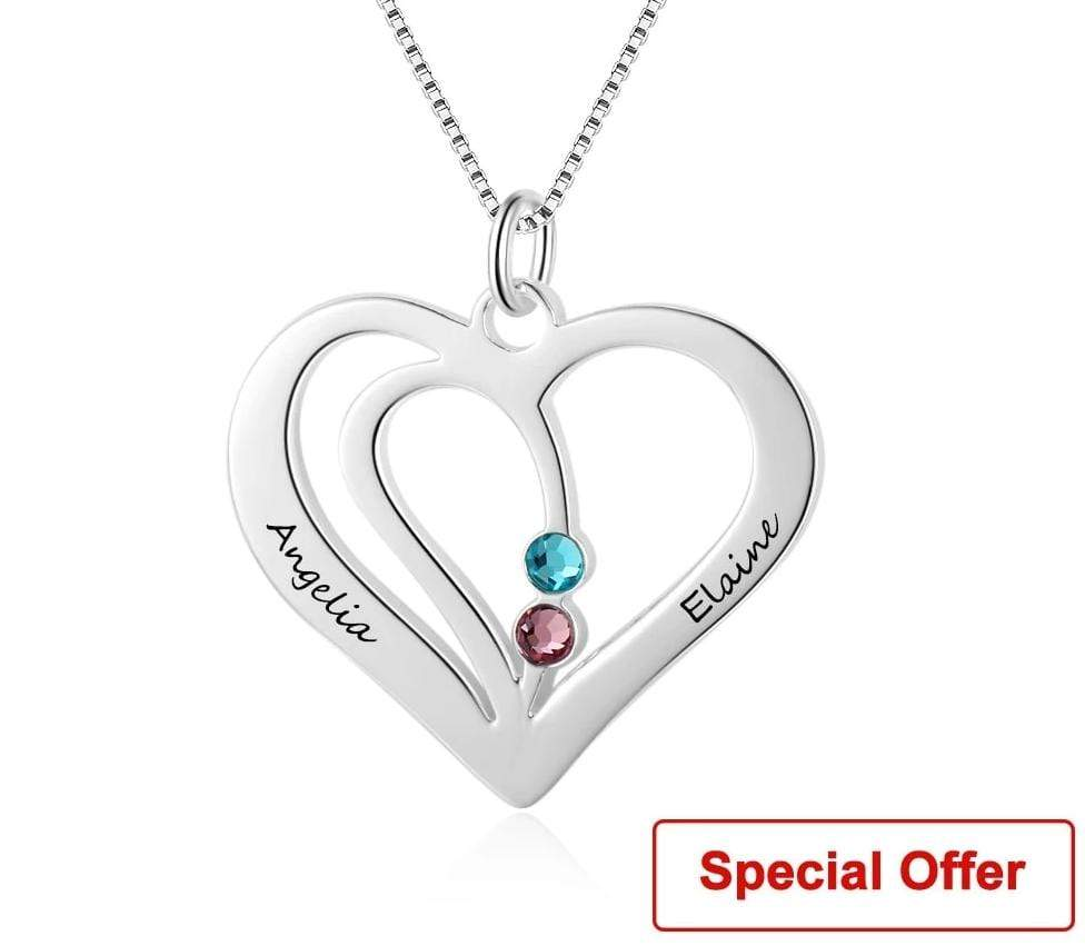 Heart Birthday Necklace - MiKlah