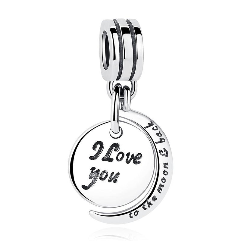 I Love You To The Moon & Back Pendant /Charm - MiKlah