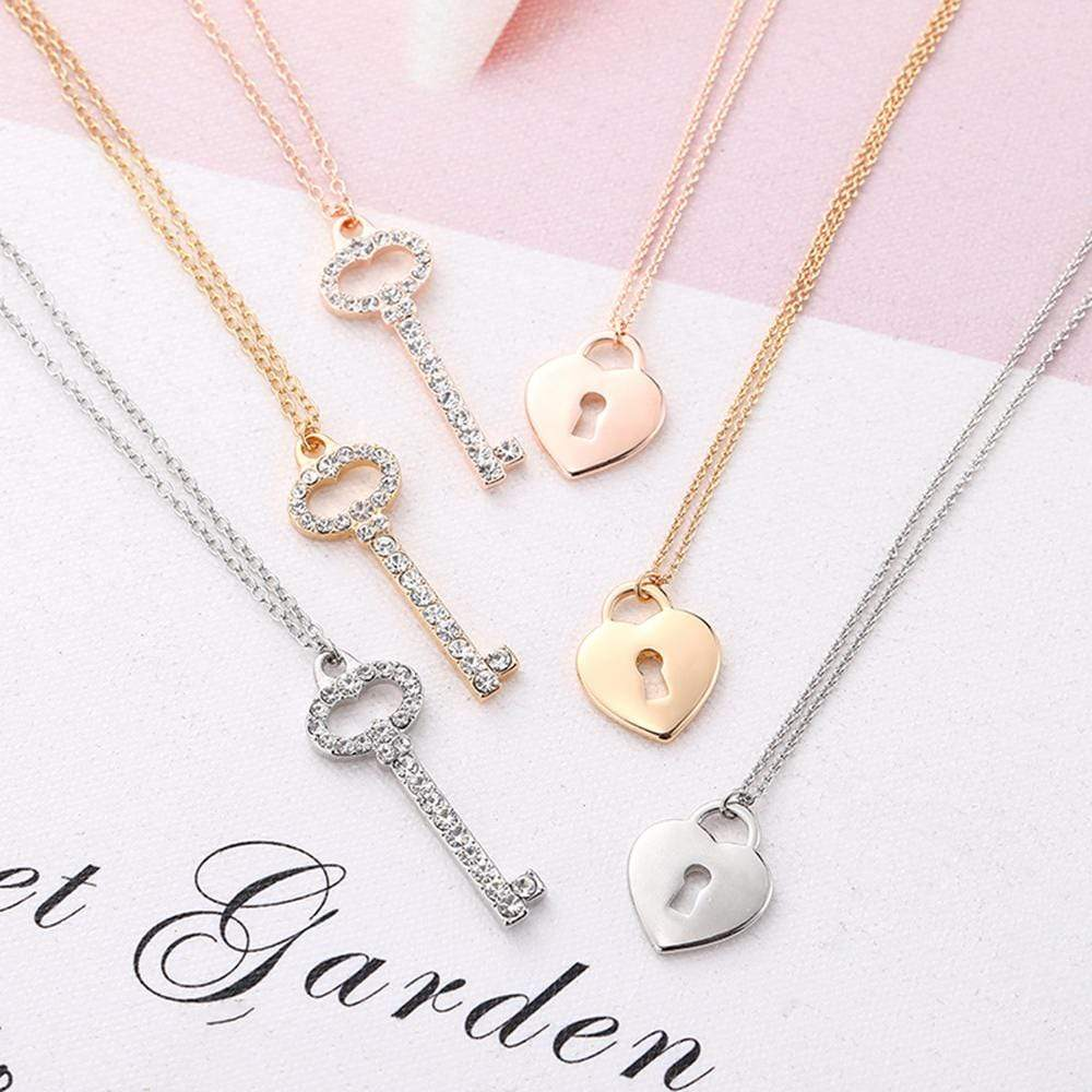 Key to My Heart Pendant Necklace - MiKlah
