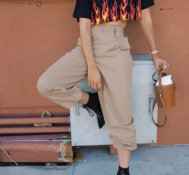 MIK Casual High Waist Harem Pants - MiKlah