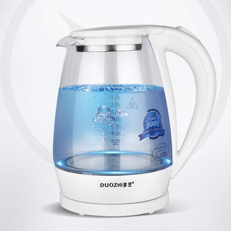 MIK 2L Electric Blue LED Glass Water Kettle - MiKlah