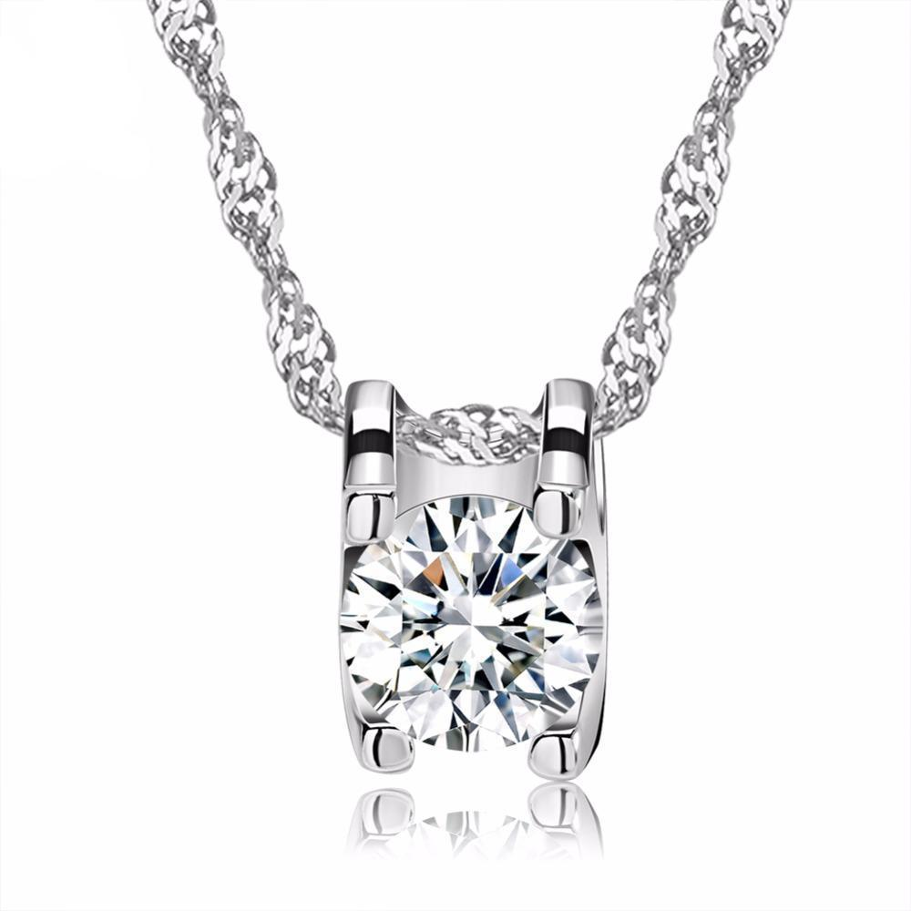 MIK Brilliant Heart and Arrow Cut Clear CZ  Necklace - MiKlah