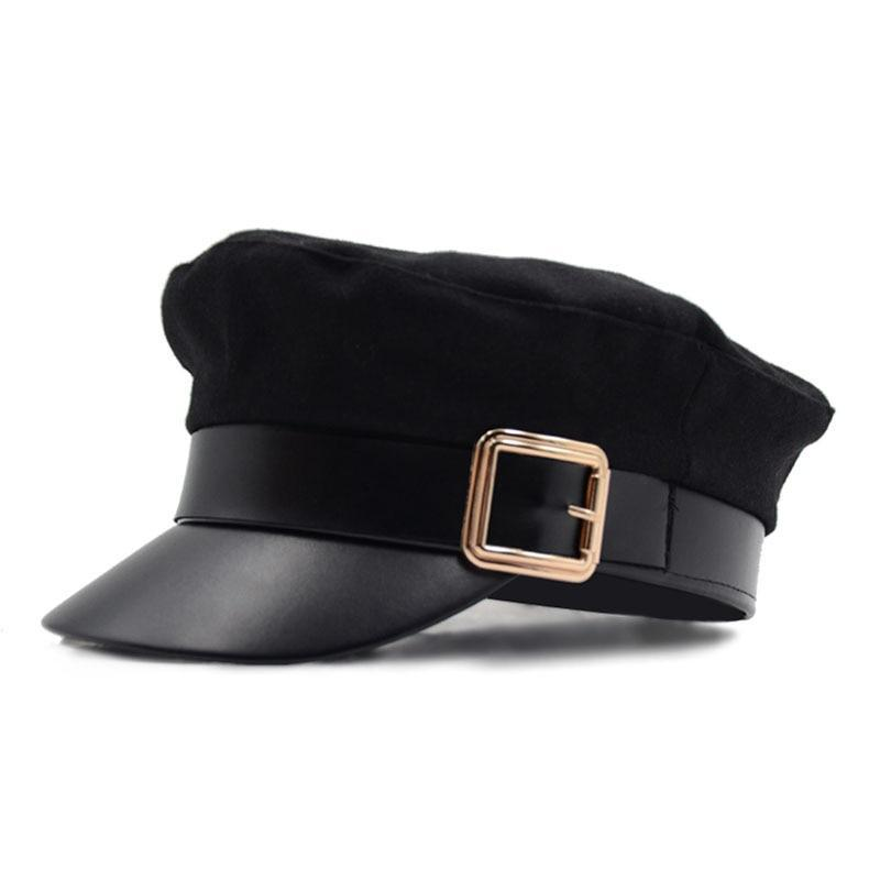 MIK Leather Military Hat - MiKlah
