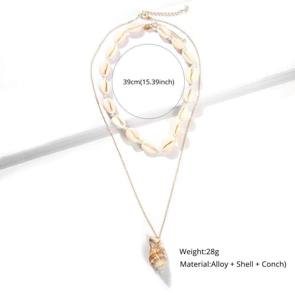 Natural Shell Conch Pendant Necklace - MiKlah