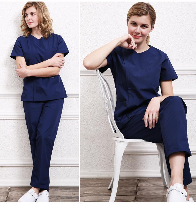 MIK Side Close Scrubs Set - MiKlah