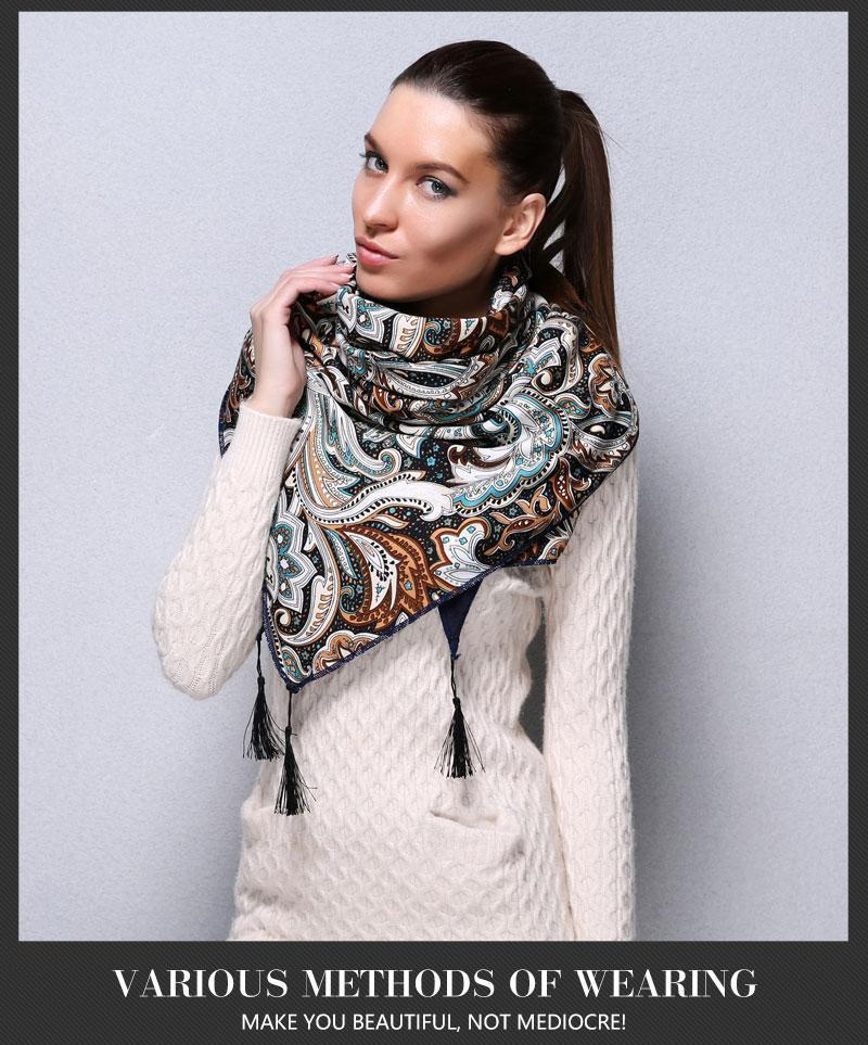 Ethnic Pattern Warm Triangle Scarves - MiKlah