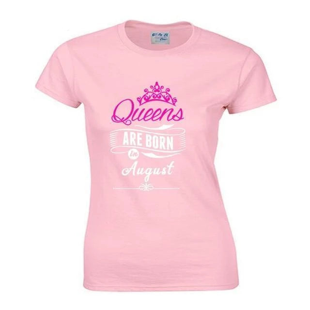 Queen Are Born In August T-Shirt - MiKlah