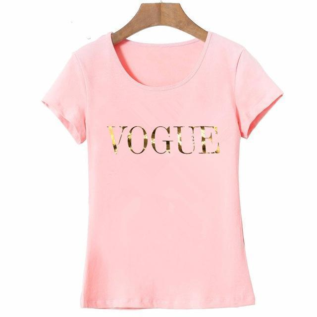 Gold VOGUE T-Shirt - MiKlah