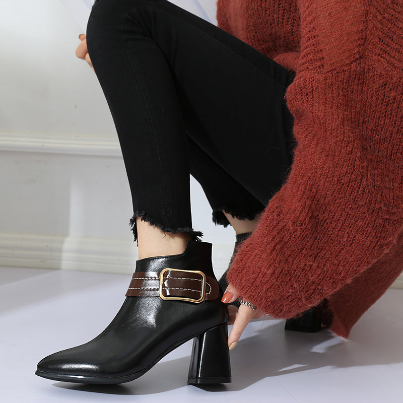 Oasis Leather Ankle Boots - MiKlah