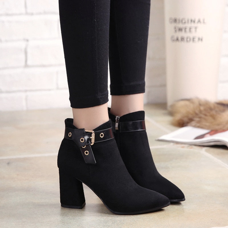 Buckled Ankle Boots - MiKlah