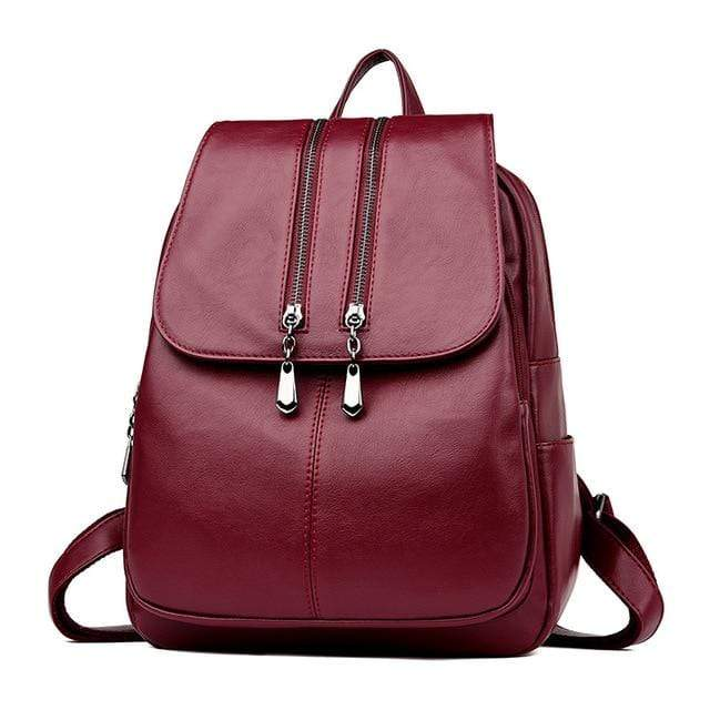 Laptop Leather Luxury Backpack - MiKlah