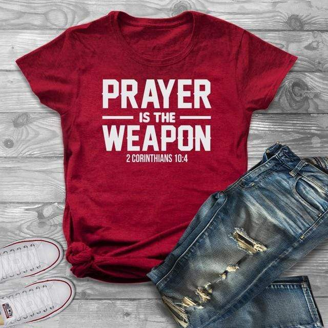 Prayer is the Weapon T-shirt - MiKlah