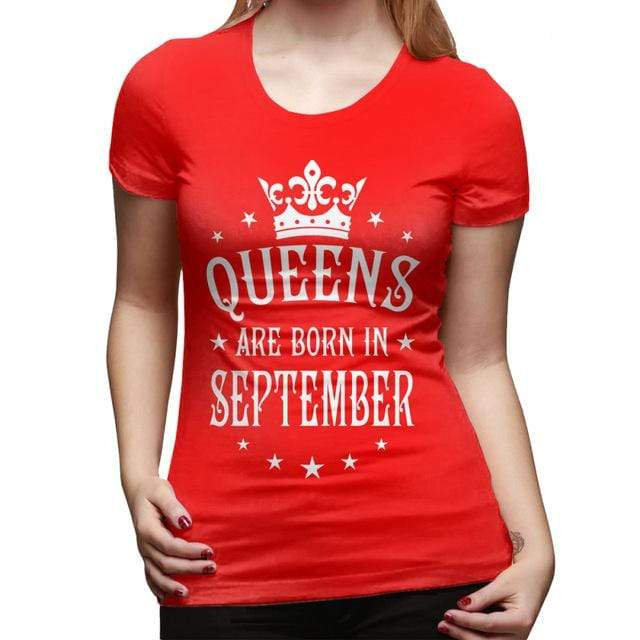 Queens Are Born In September T Shirt - MiKlah