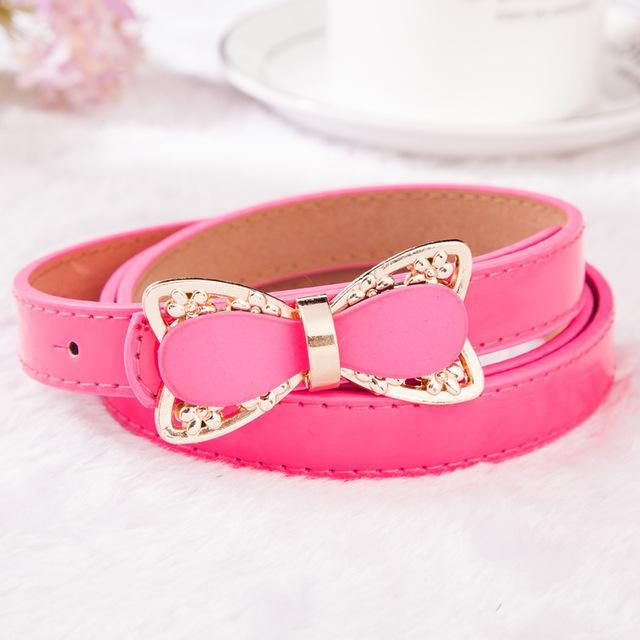MIK Stylish Pink Bow Strap Belt - MiKlah