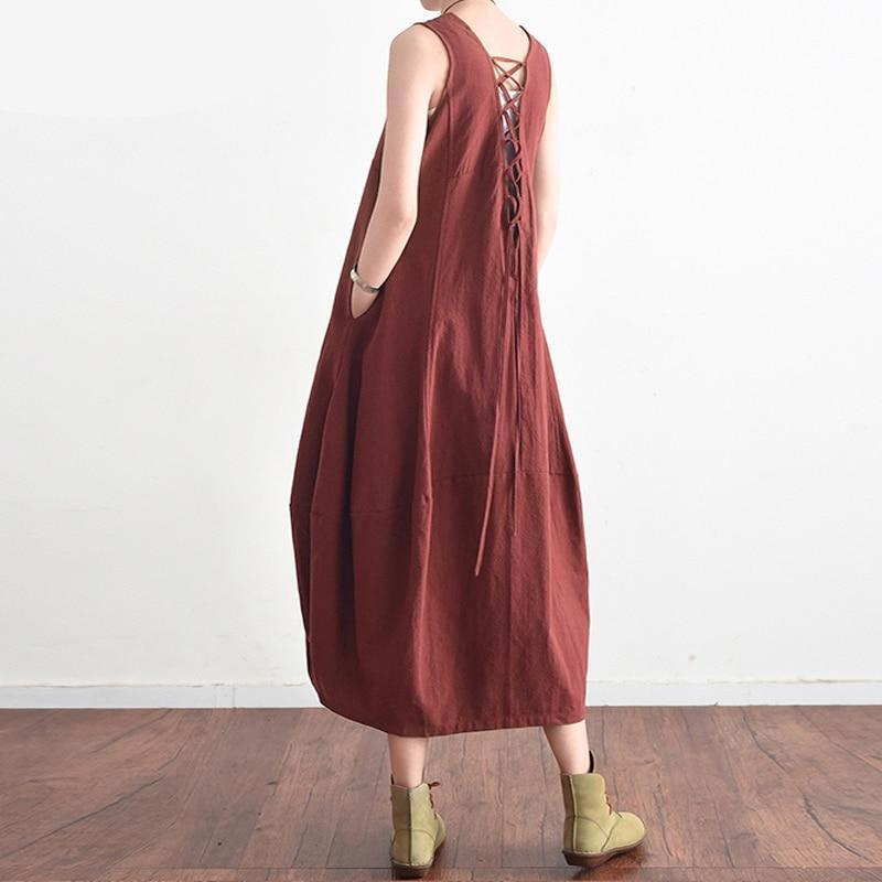 Baggy Lace Up  Dress - MiKlah