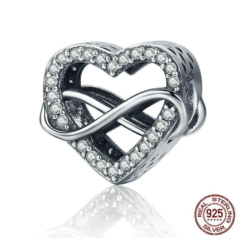 Sterling Silver Endless Love Infinity Love Charms - MiKlah