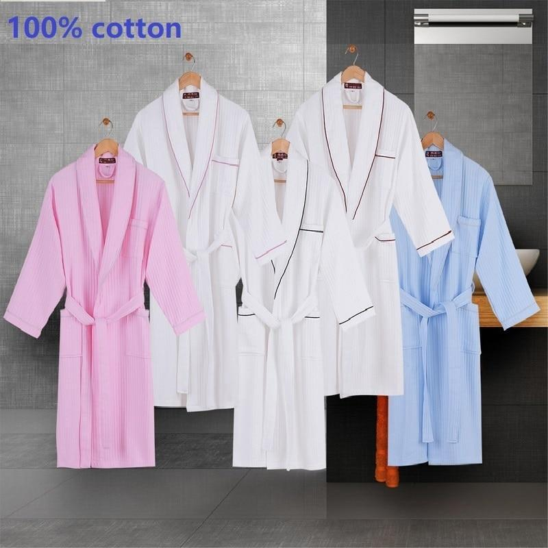 Waffle Style Cotton Robes - MiKlah