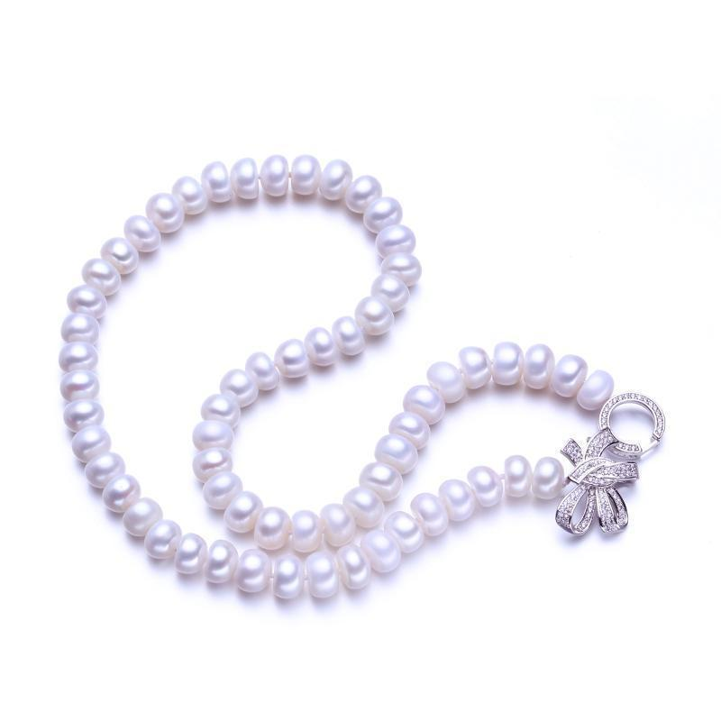 Bowknot  AAAA Natural Freshwater Pearl Necklace - MiKlah