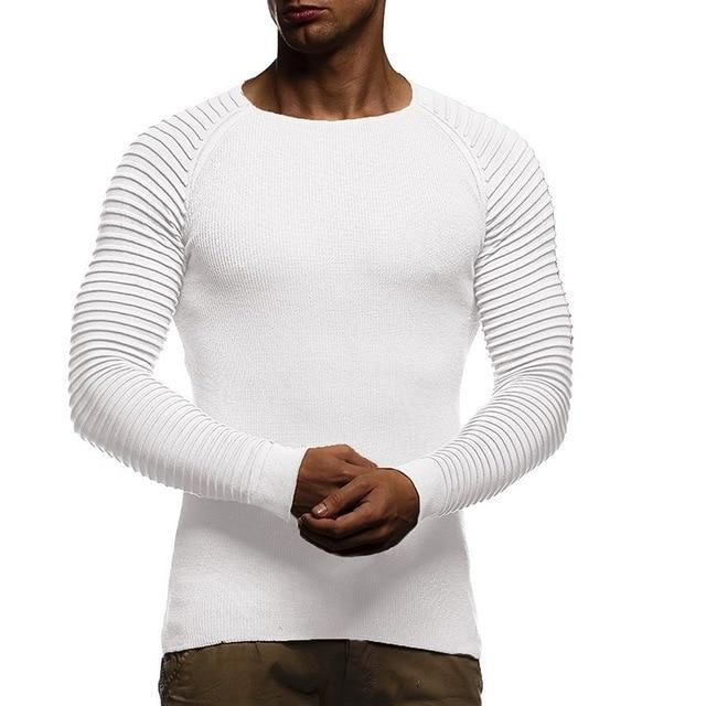 Pleated Sleeve O neck  Pullovers - MiKlah