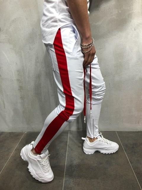 Side Striped Men Joggers Pants - MiKlah