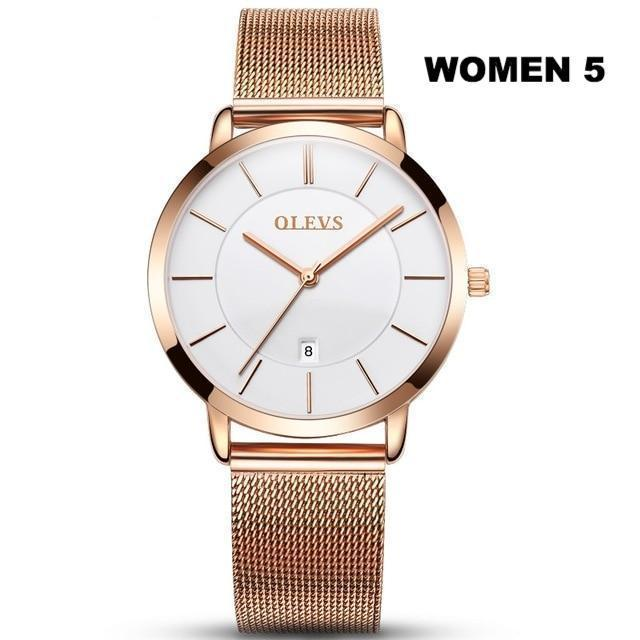 MIK Waterproof Rose Gold Stainless Steel Quartz Watch - MiKlah