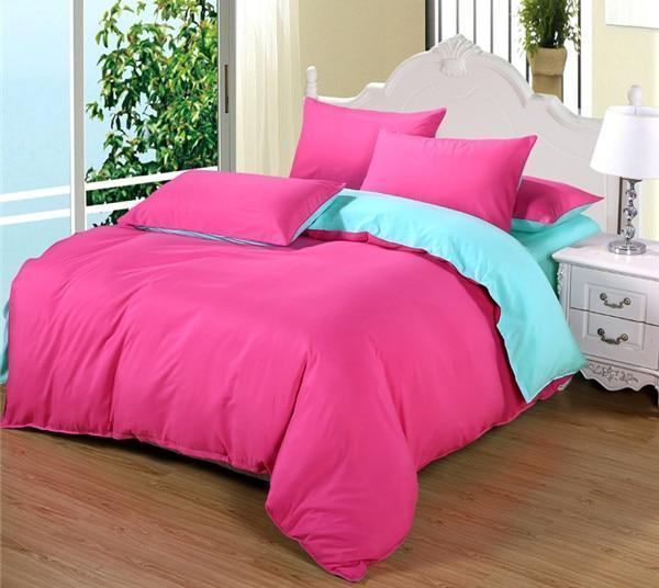 Double-Sided Duvet Sets-Pink Sky Blue - MiKlah