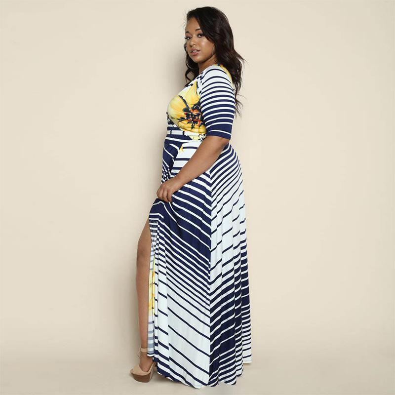 Side Split Wrap Dress - MiKlah