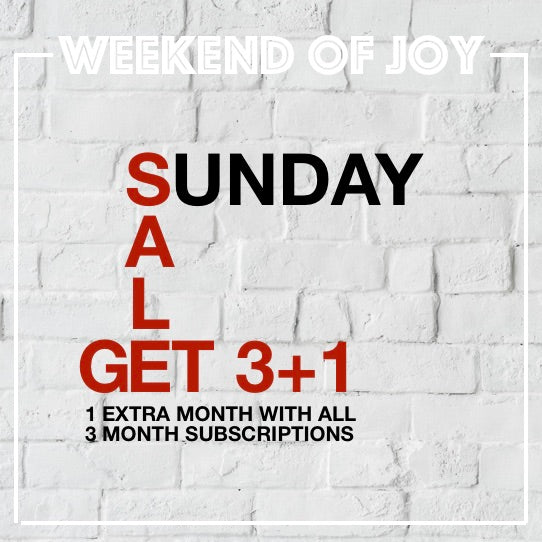 Weekend of Joy offer by Boxes of Joy - Sunday