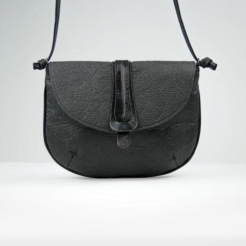 Grey-Black Piñatex® Crossbody Bag