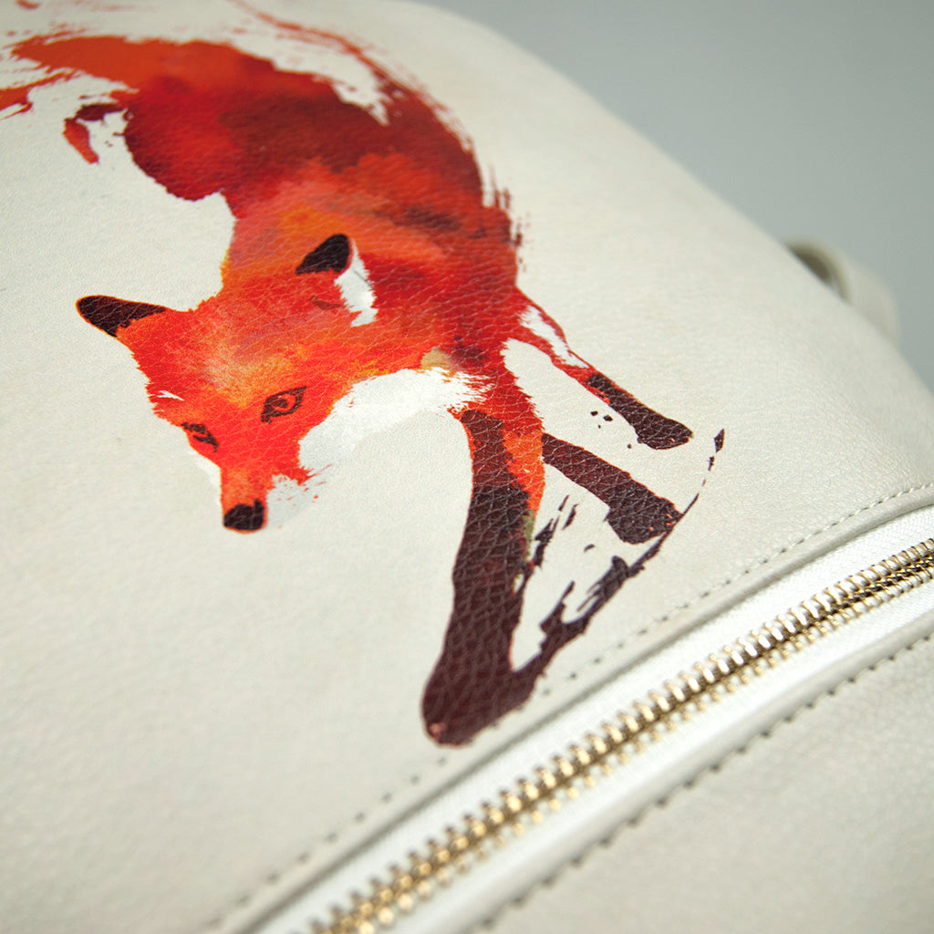 Vegan Foxy Print Backpack