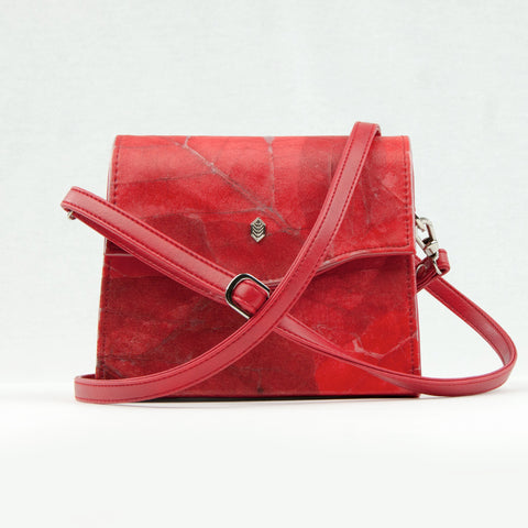 Red Real Leaf Box Bag
