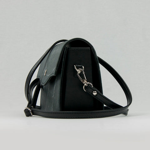 Black Real Leaf Box Bag