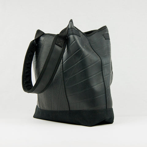 Recycled Inner Tube Large Black Tote