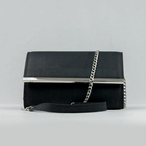 Black Cork Clutch Bag