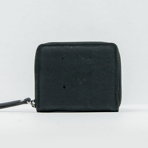 Cork Zip Purse - Black