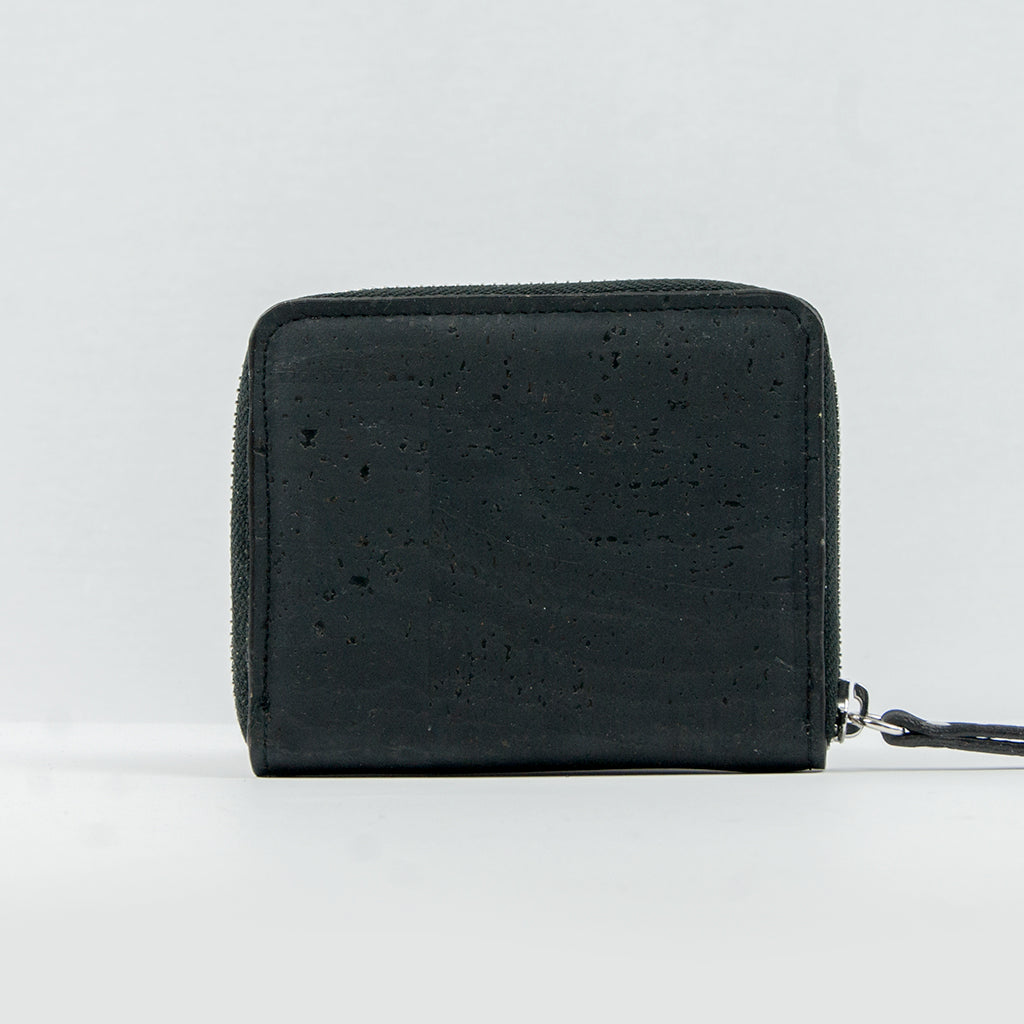 Cork Zip Wallet - Black