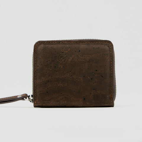 Cork Zip Purse - Brown
