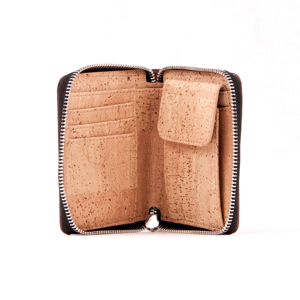 Cork Zip Wallet - Red