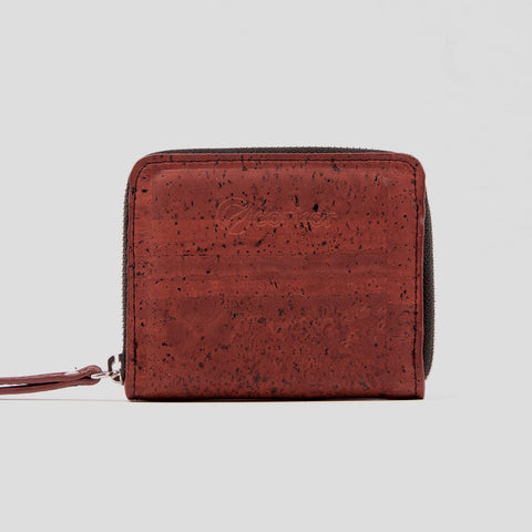 Cork Zip Purse - Red