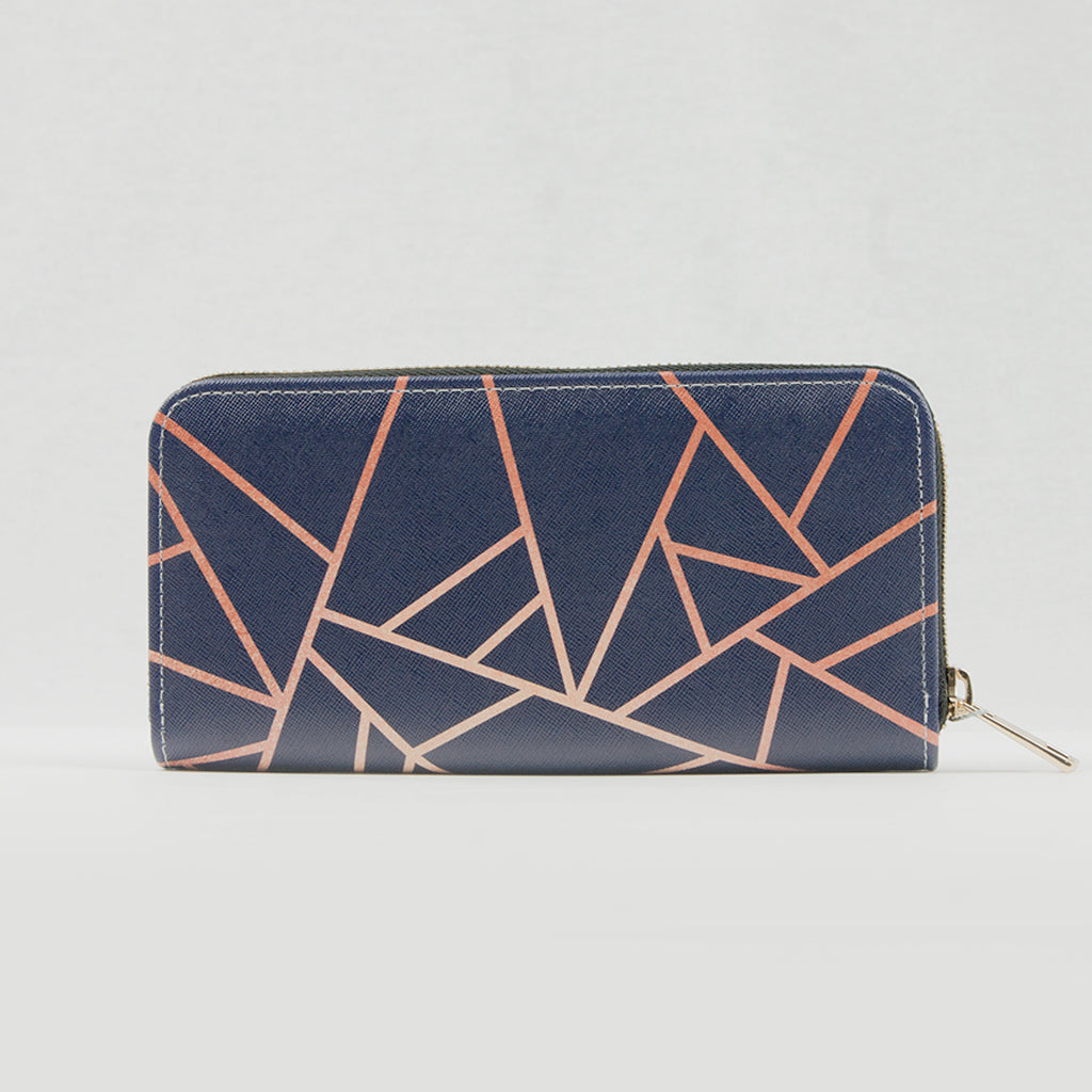 Blue / Copper Geometric Purse