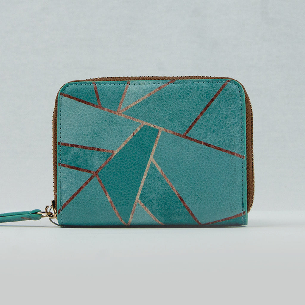 Turquoise / Copper Small Purse