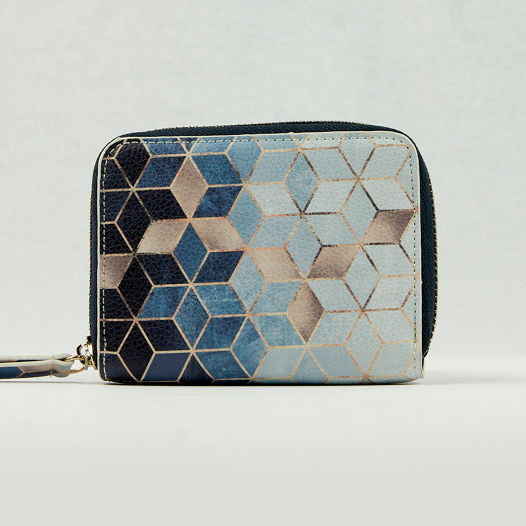 Geometric Ombre Print Small Purse