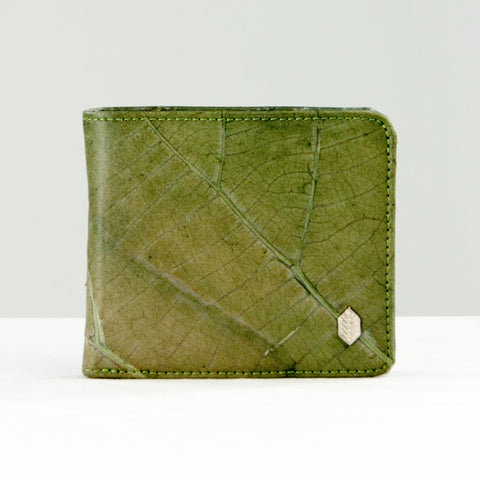 Tree Leaf Vegan Wallet - Green
