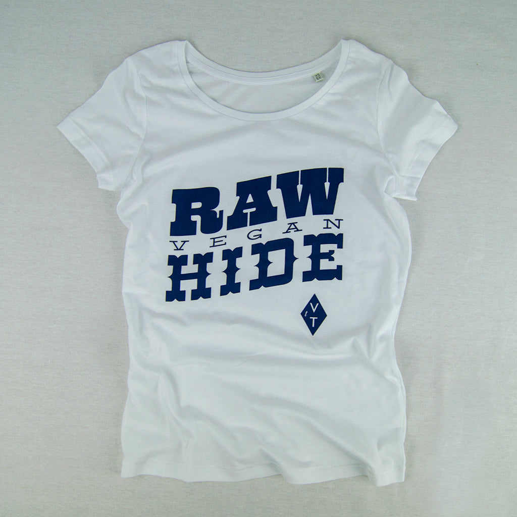Women's Slim Fit 'Raw' Vegan T-shirt